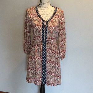 Beautiful patterned 3/4 dress by Hem & Thread